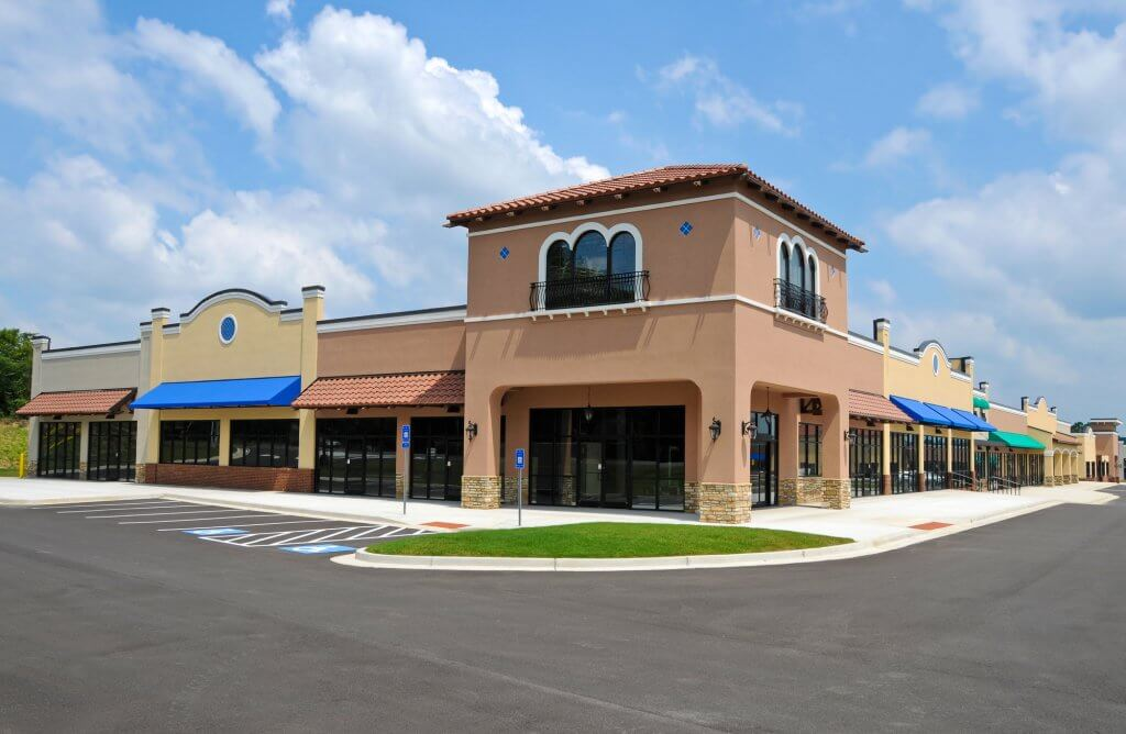 commercial corner property in new shopping center