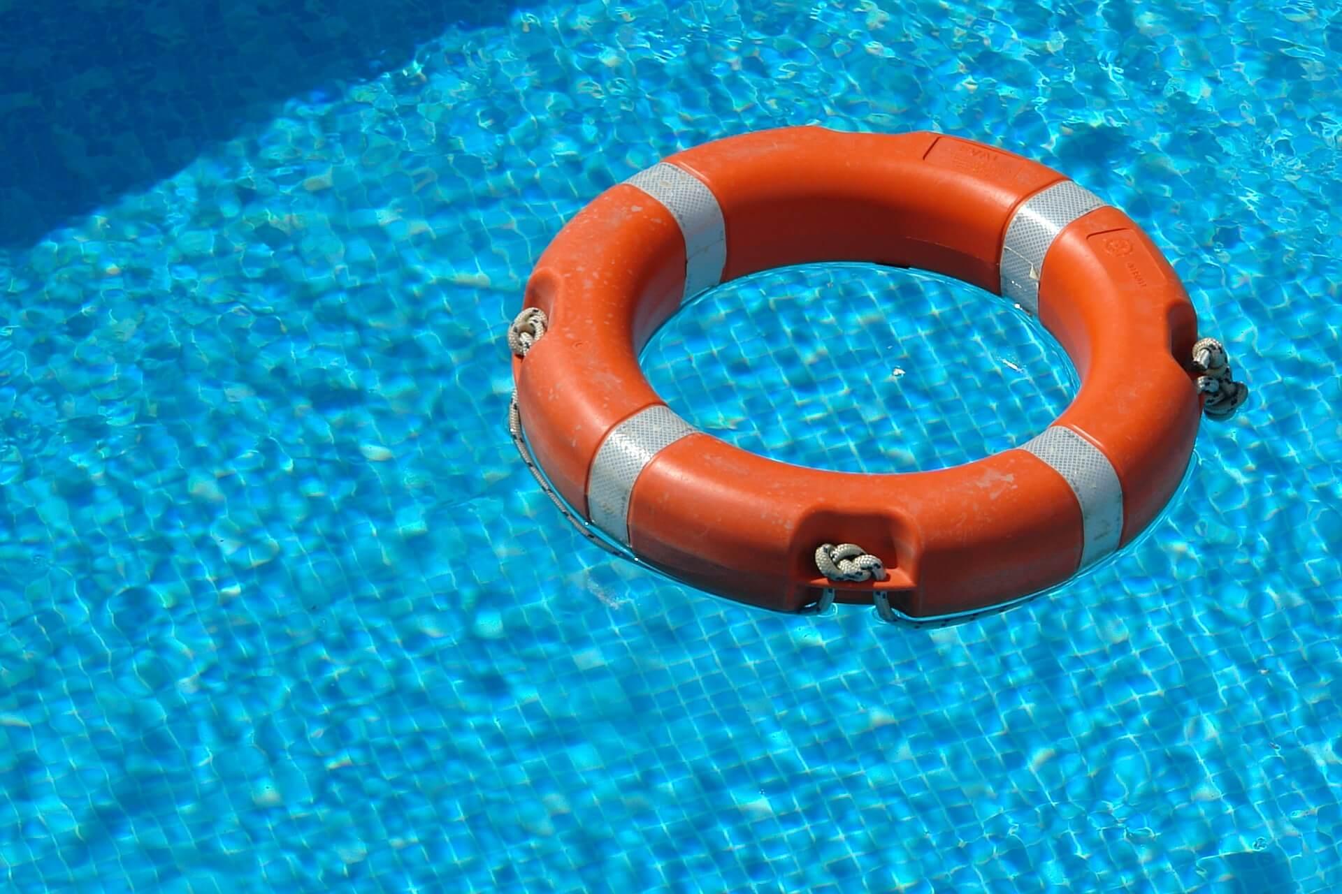 lifesaver floating in pool