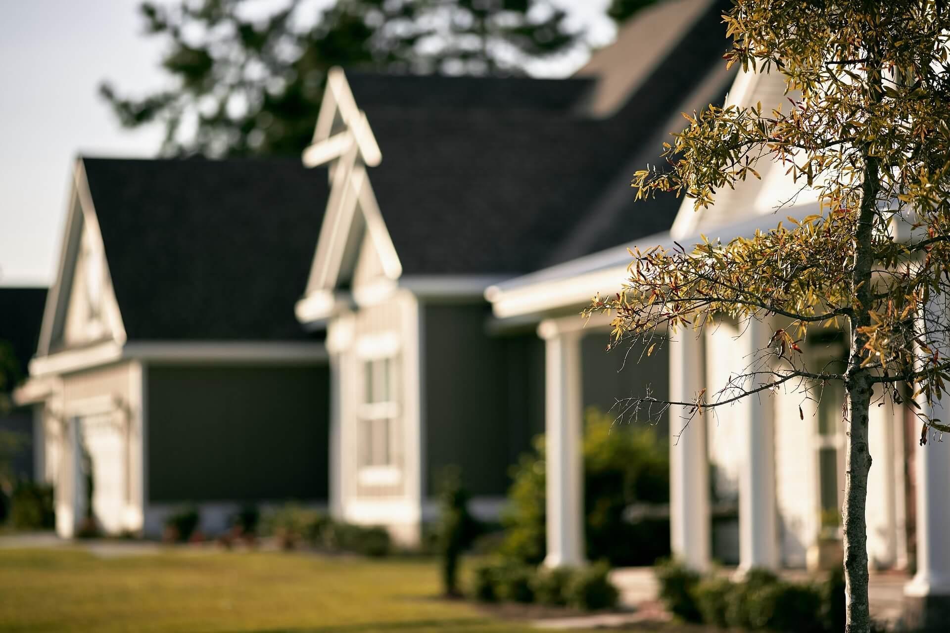 unfocused neighborhood homes