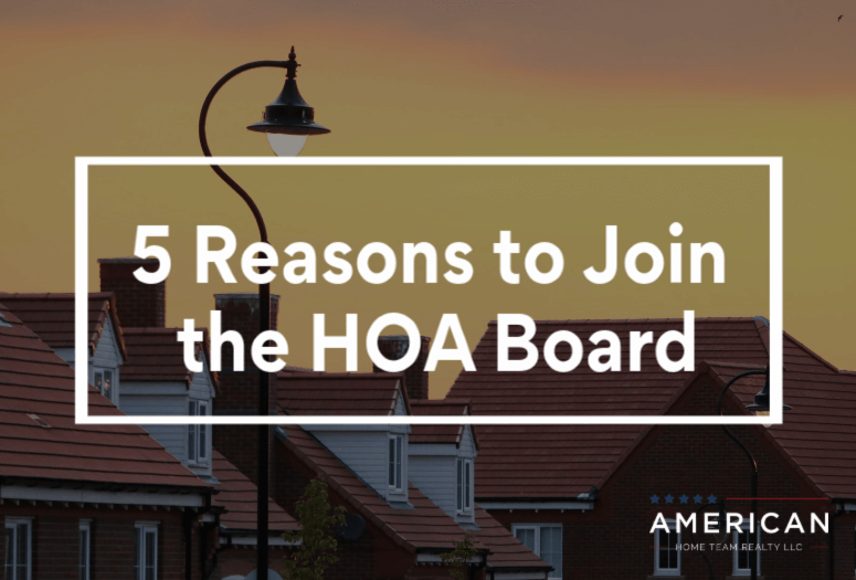 5 Reasons to Join the HOA Board