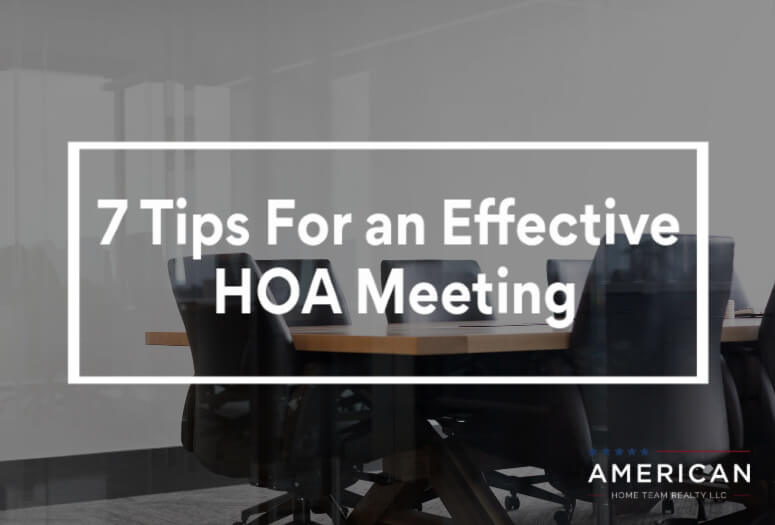 7 Tips For an Effective HOA Meeting