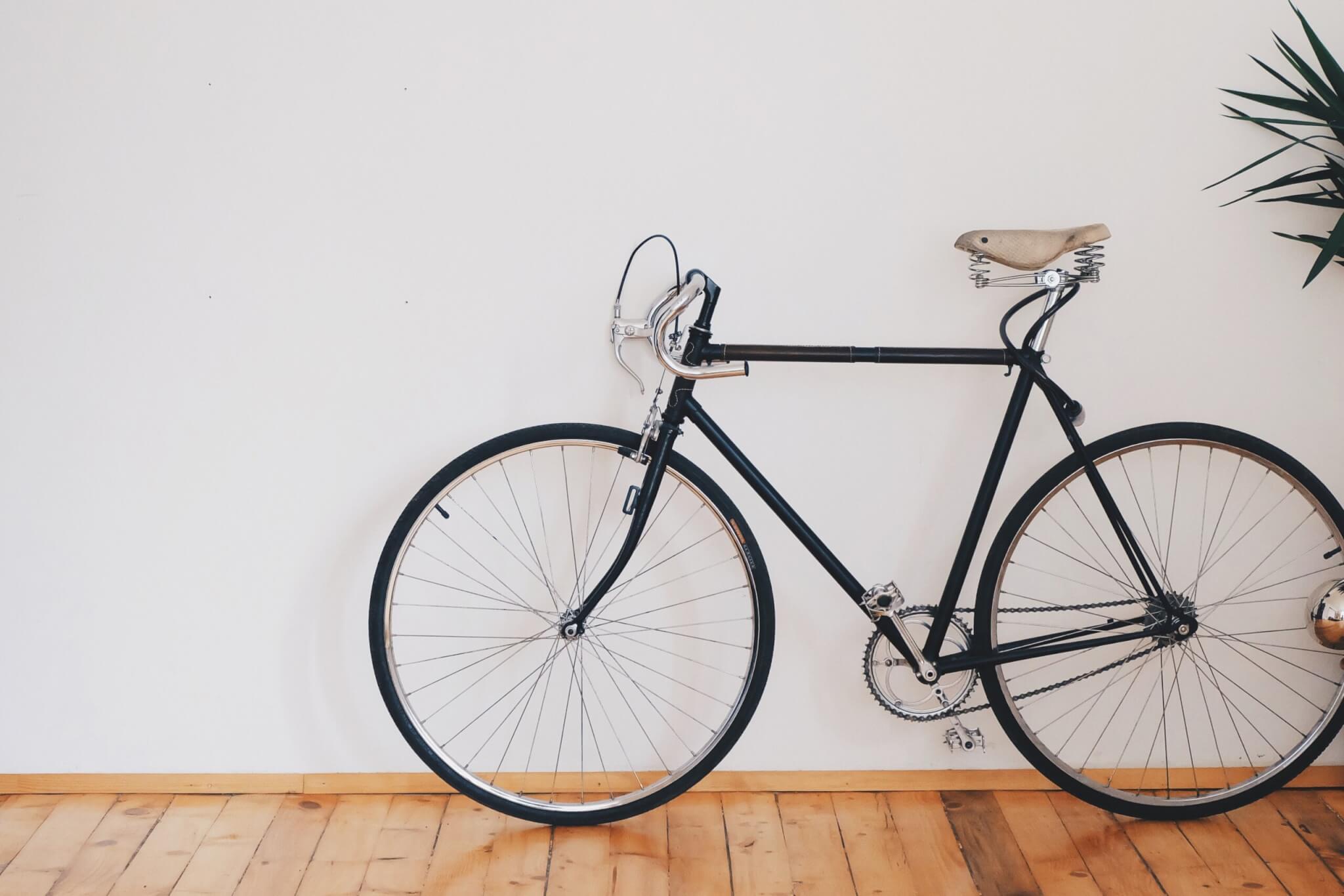 bike stored inside