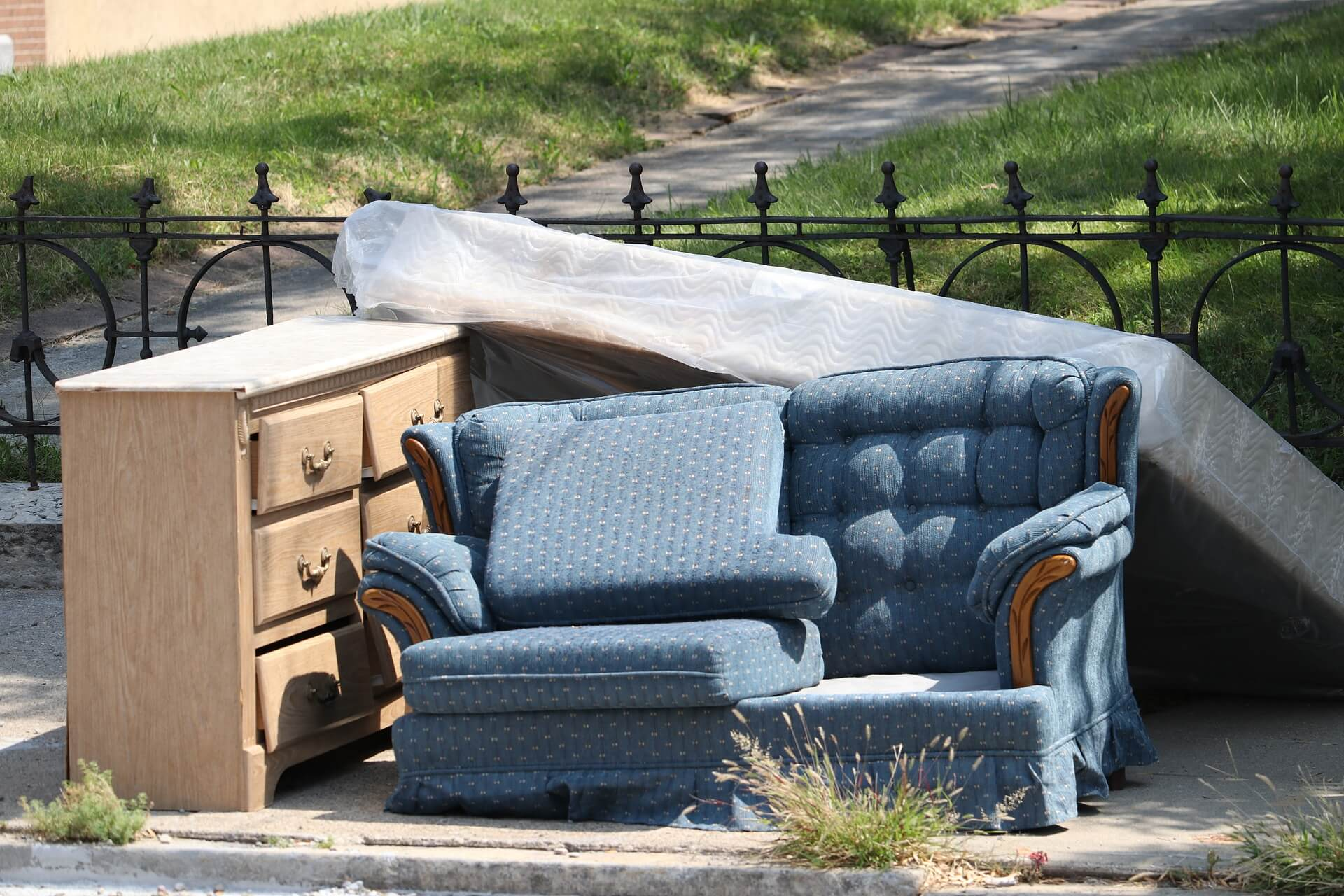 old furniture left on curb