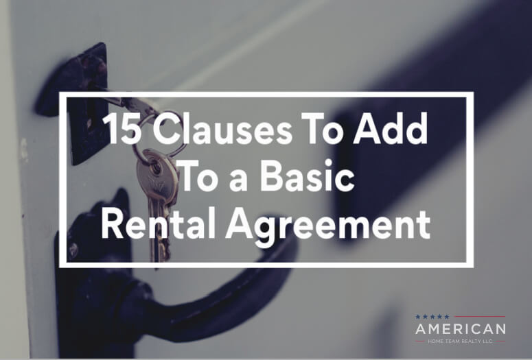 15 Clauses To Add to a Basic Rental Agreement